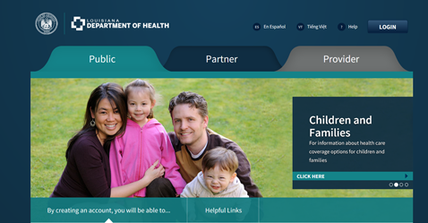 New Medicaid Eligibility and Enrollment System | Department of Health |  State of Louisiana