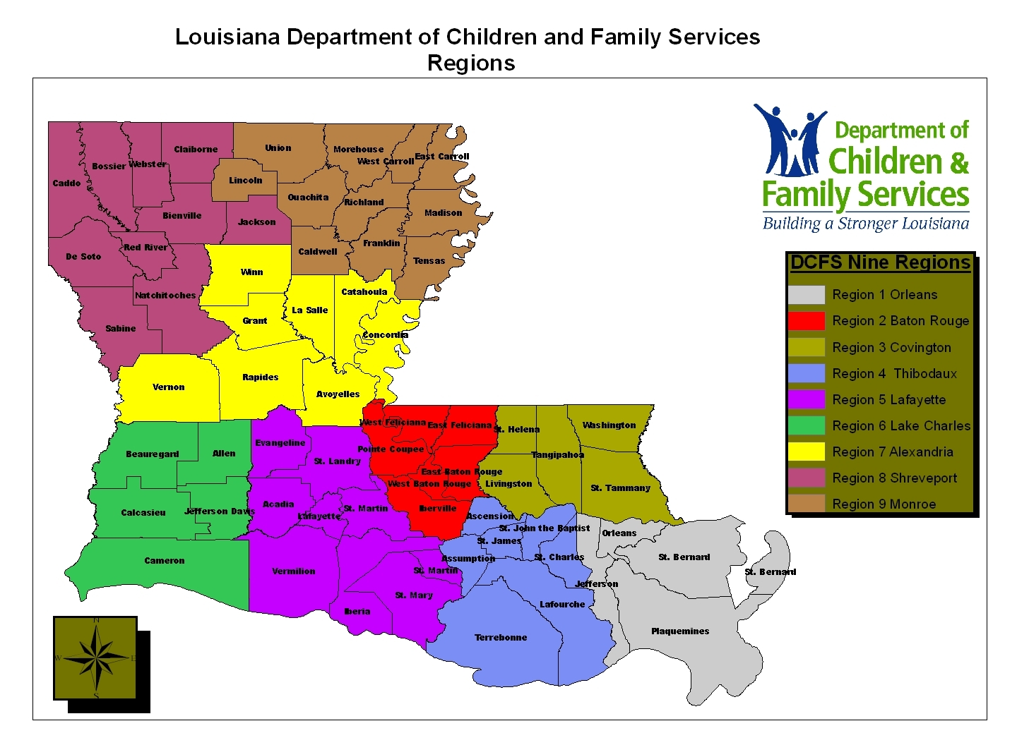 Louisiana Regions Map MAP - Physical map of louisiana