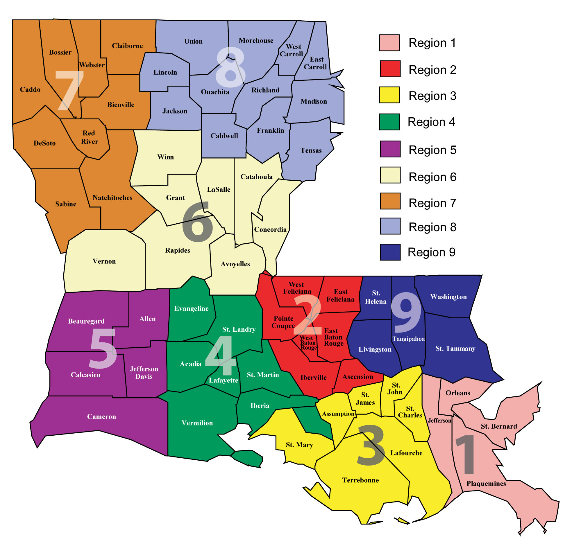 About LDH Department Of Health State Of Louisiana - Loisiana map