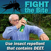 Use insect repellent that contains DEET.