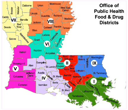 Food & Drug Unit Districts