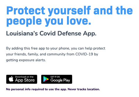 COVID Defense App - click for more information