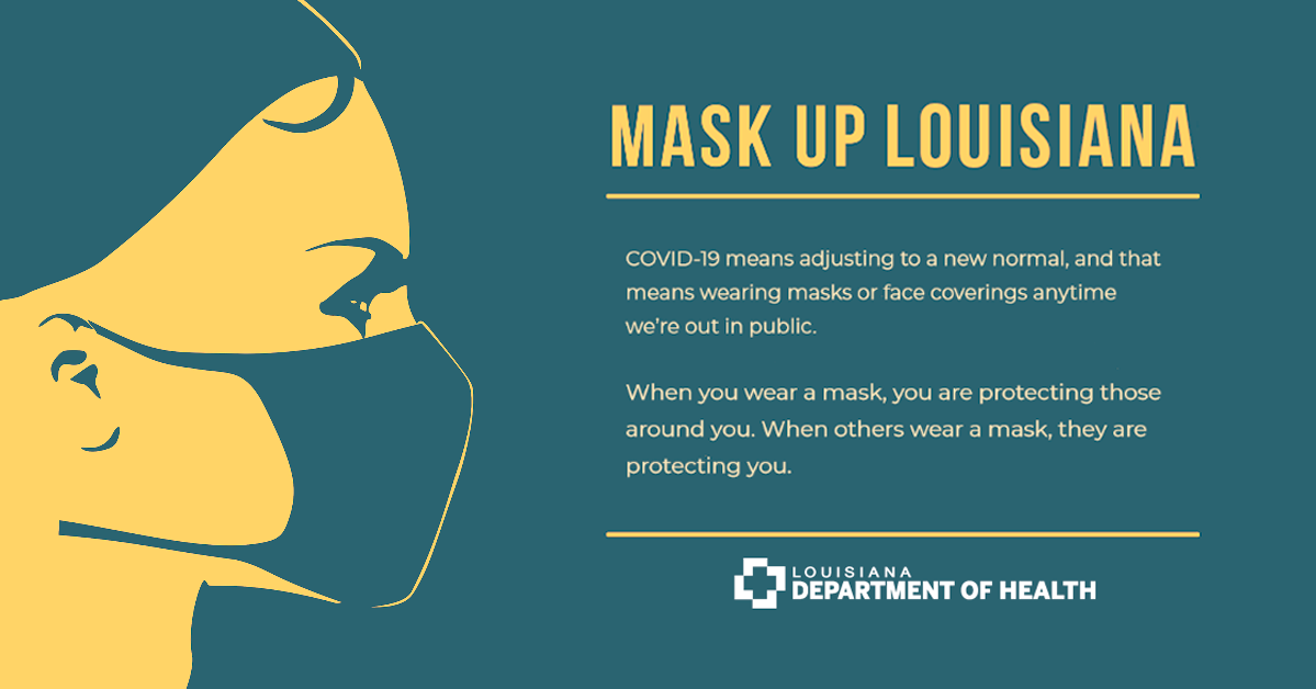 Mask Up Department Of Health State Of Louisiana