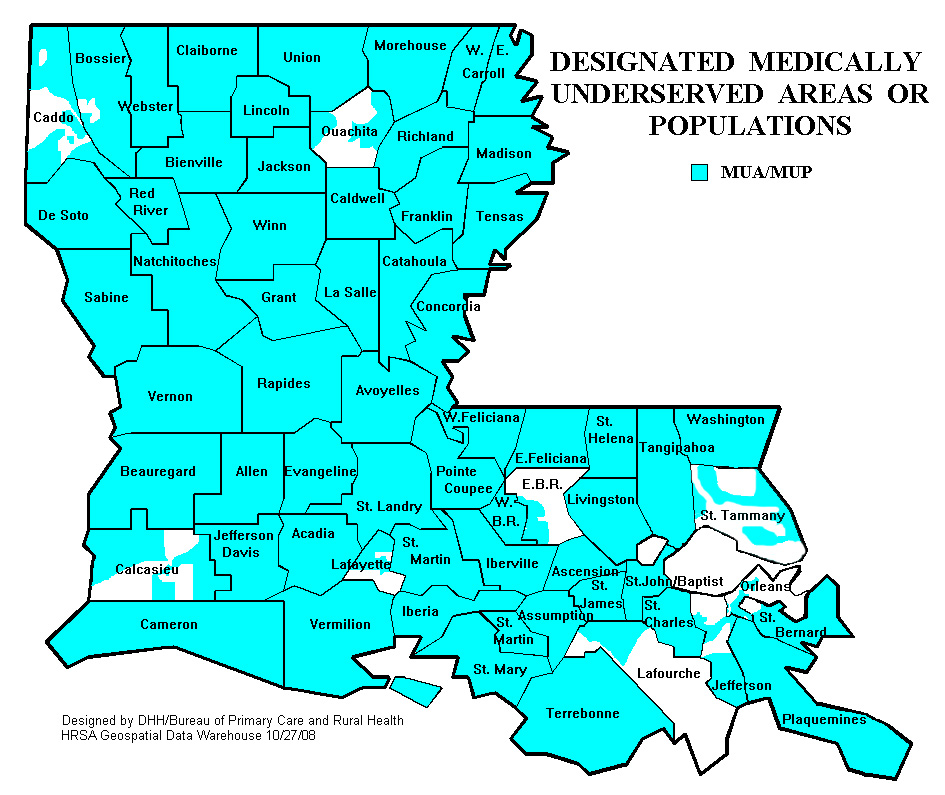 Louisiana Maps Department Of Health State Of Louisiana - Lousiana map